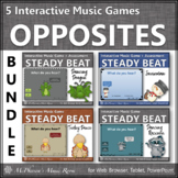 Steady Beat or Not Interactive Music Games &  Assessments {Bundle}