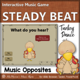 Thanksgiving Music Game Steady Beat or Not Interactive Music Game {Turkey Dance}