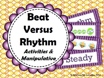 Beat Versus Rhythm Activities & Manipulative