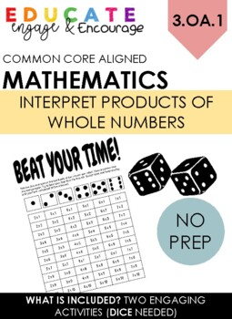 Beat your time - Multiplication math station