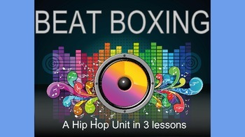 Beatboxing: a 3 lesson hip hop unit. Hands on music making and assessments.
