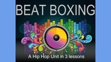 Beatboxing: a 3 lesson hip hop unit. Hands on music making