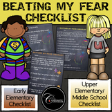 Beating My Fear Checklist (Chalkboard Background)