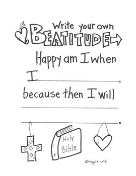 Beatitude for Children - write your own beatitude
