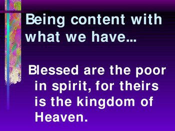 Beatitudes Catholic Power Point