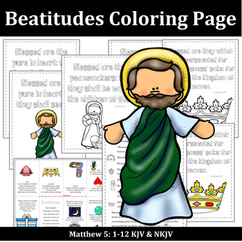 The Beatitudes Bible Lessons For Kids By Rebekah Sayler Tpt