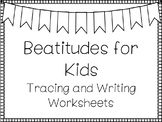 Beatitudes For Kids Handwriting and Color Worksheets. Children's Bible Study.