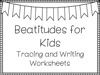 Beatitudes For Kids Handwriting and Color Worksheets  Children's Bible  Study