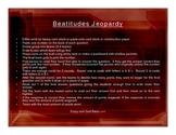 Beatitudes Jeopardy