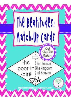 Beatitudes Match-Up Cards Freebie