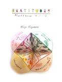 Beatitudes Origami Flip Square