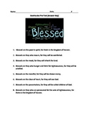 Beatitudes Pre and Post Test/Assessment