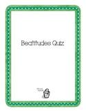 Beatitudes Quiz