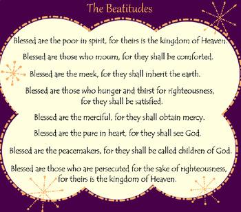 Beatitudes SMARTBoard Activities
