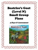 Beatrice's Goat Level N Guided Reading Plans