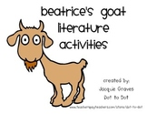 Beatrice's Goat Literacy Pack