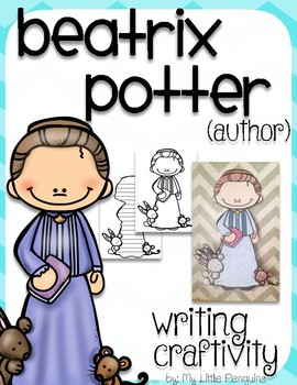"""Beatrix Potter """"Craftivity"""" Writing page (Author of The Tale of Peter Rabbit)"""