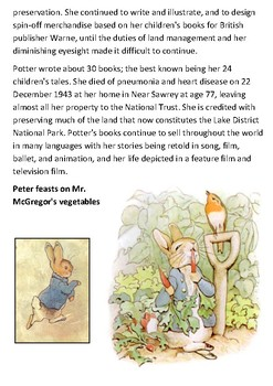 Beatrix Potter Handout