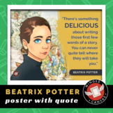 Beatrix Potter Art History Poster - Famous Artist Quote