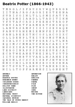 Beatrix Potter Word Search