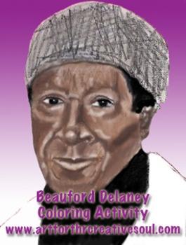 Beauford Delaney Coloring Sheet