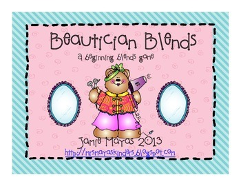 Beautician Blends {A Blends Game for Community Helpers}