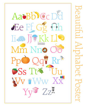 Beautiful Alphabet Posters, Display Letters and  FlashCards
