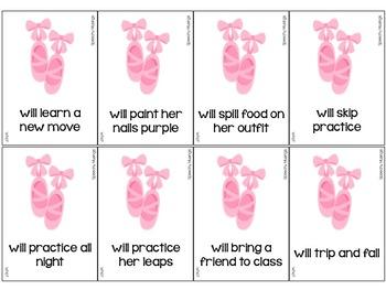 Beautiful Ballerina Sentences for Sentence Formulation