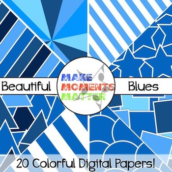 Beautiful Blues - Digital Paper Pack