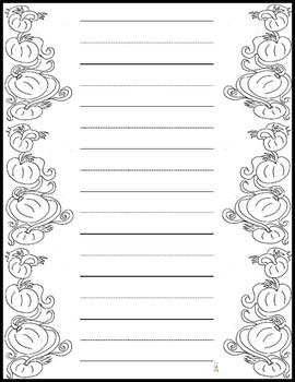 Beautiful Bordered Handwriting, Stationary, and Printer Sheets (80 Sheets)
