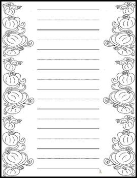 Beautiful Bordered Handwriting, Stationary, and Printer Sheets (80 Sheets)