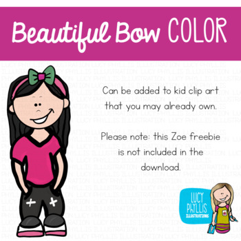 Beautiful Bows Clip Art (Lucy Phyllis Illustrations)