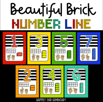 Beautiful Brick Rainbow Number Line ( 1 - 20 )