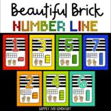 Beautiful Brick Rainbow Number Line ( 1 - 20 )