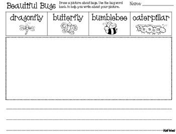 Beautiful Bug Writing - FREEBIE