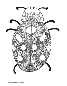 Beautiful Bugs! Circle & Line Art