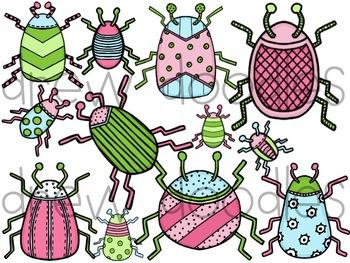 Beautiful Bugs Digital Clip Art Set