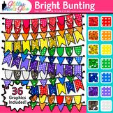 Bright Bunting Clip Art: Rainbow Glitter Flags & Banners {Glitter Meets Glue}