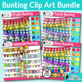 Beautiful Bunting Clip Art Bundle {Autumn, Spring, Summer, & Winter Pennants}