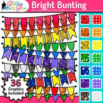 Beautiful Bunting Clip Art Bundle: Seasonal Graphics {Glitter Meets Glue}