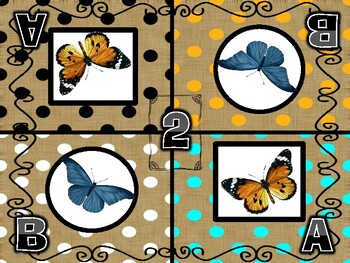 Beautiful Butterflies-Kagan Inspired Team Mats-For All Grades