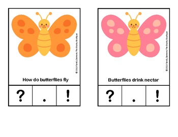 Beautiful Butterfly Punctuation Practice - A Clothespin Literacy Center