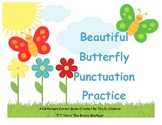 Beautiful Butterfly Punctuation Practice - A Clothespin Li