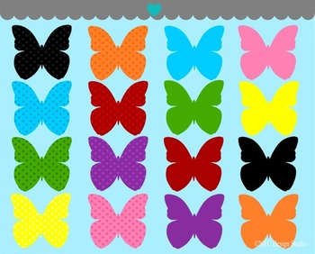 Butterfly clipart commercial use