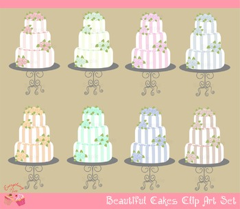 Beautiful Cakes Clipart Set