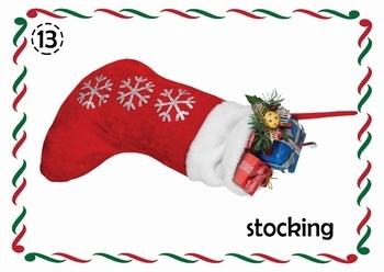Beautiful High Quality A3  Christmas Flashcards