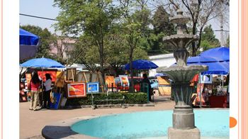 Spanish - Bright & Colorful Original Photos of Coyoacan, Mexico - Powerpoint
