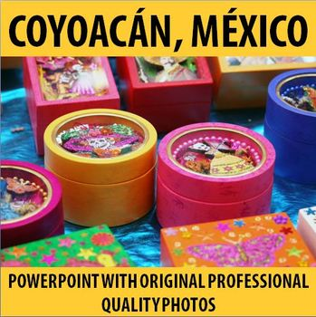 Spanish - Bright & Colorful Original Photos of Coyoacan, M