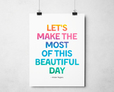 Beautiful Day Mister Roger Quote, Inspirational Class Decor, Printable Poster