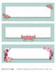 Beautiful Floral Labels - 8x3 Labels